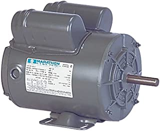 Marathon X912 56 Frame Totally Enclosed 56B17T5303 Farm Duty Belt Drive Motor, 1 hp, 1725 RPM, 115/230 VAC, 1 Phase, 1 Speed, Ball Bearing, Capacitor Start/Capacitor Run, Rigid Base