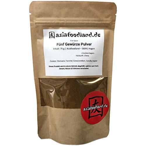 Asiafoodland - Fünf Gewürze Pulver - Five Spice, 1er Pack ( 1 x 75 g)