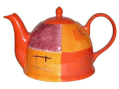 Teekanne mit Stövchen - Cha Cult Patricia Set 1,5l (handbemalt,Goldauflage)