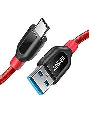 Anker PowerLine+ 90cm USB C kabel naar USB 3.0 A, zeer resistent voor USB Type-C apparaten inclusief Galaxy S8, S8+, S9, S10, MacBook, Sony XZ, LG V20 G5 G6, HTC 10, Xiaomi 5 enz. (rood)