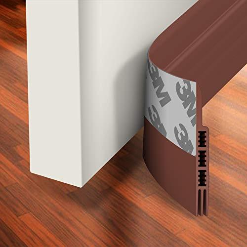 Holikme Door Draft Stopper Under Door Draft Blocker Insulator Door Sweep Weather Stripping Noise Stopper Strong Adhesive Door Stops of Rubber 39