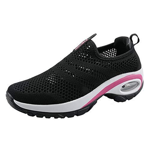 Yivise Zapatos mecedores de Mujer Zapatos de amortiguación con Plataforma de Boca Baja Zapatos...