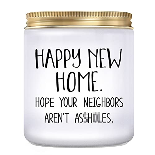 KLL House Warming Presents for New Home- Housewarming Gift, New Home Gifts for Home, Funny Housewarming Gifts, New Home Owner Gift, New House Gift, Lavender Candles (7oz)