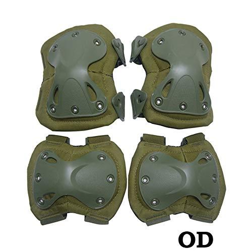 QZY Rodilleras Tácticas De Seguridad Militar, 4-En-1 Anti-Impacto Durable Rodilleras Y Coderas Set-8 Color