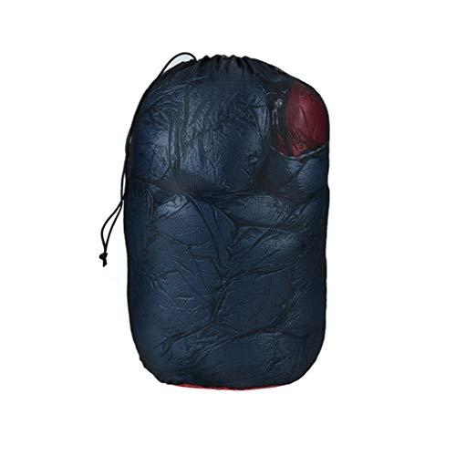 Nylon mesh slaapzak camping wandelen vissen kan zien de kleding opbergtas zwart