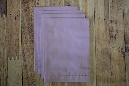 Hemstitch Serviettes de table Lavande 1 douzaine
