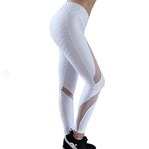 YUYOGAP Fruncido Push Up Mujeres Leggings Malla Fitness Legging Cintura Alta Sexy Bodybuilding Leggings Entrenamiento Ropa Deportiva