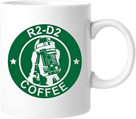 Queen54ferna Abby Smith R2-D2 Kaffeetasse, Keramik, 325 ml, Weiß