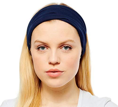 Antonia York, Stirnband für Damen, Turban, breites Kopfband Gr. Einheitsgröße, navy