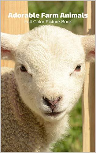 Adorable Farm Animals Full-Color Picture Book: Animals Nature (English Edition)
