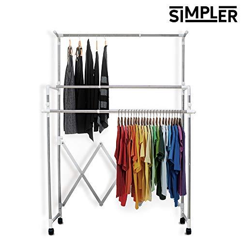 Organizador de ropa plegable SIMPLER de CV Directo. Es un CLOSET ARMABLE, fabricado en aluminio de alta…