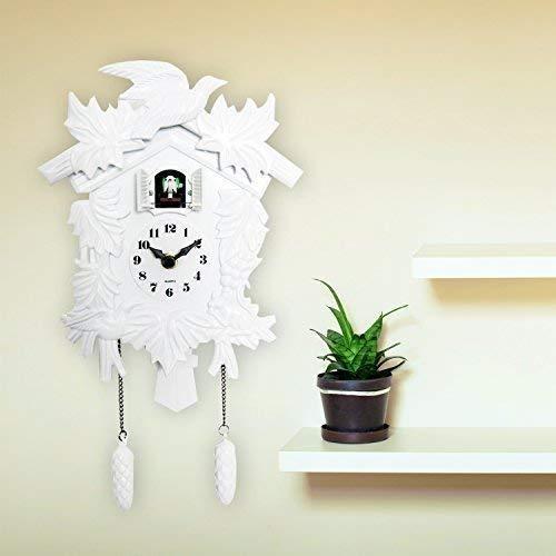 Walplus Elegante Bianco cucù Orologio decorazione parete Home Living camera cucina Decor Ristorante Caffè Hotel Ufficio Decorazione