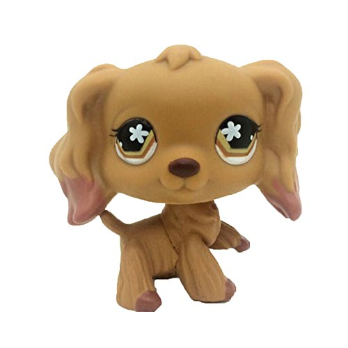 Vibola Animal Pet Littlest Brown Dog Rare Collection Cute Animal Toy Figure Toy Kids Girl Boy Gift