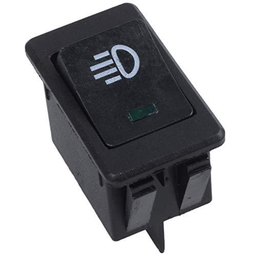 Gesh Luz antiniebla LED para coche, barco, 12 V, 35 A, interruptor de encendido y apagado del salpicadero, color verde