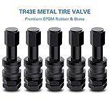 CKAuto 5 Pcs VS43/TR43E Tubeless Metal Clamp-in Valve Stems, Black Finish