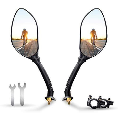 ANVAVA Fahrradspiegel für Lenker 21-24mm, 2 Stück Fahrrad Rückspiegel mit 360° Verstellbar und Drehbar Fahrrad Spiegel für E-Bike Mountainbike Motorrad Rennräder Kinderwagen, Links und Rechts