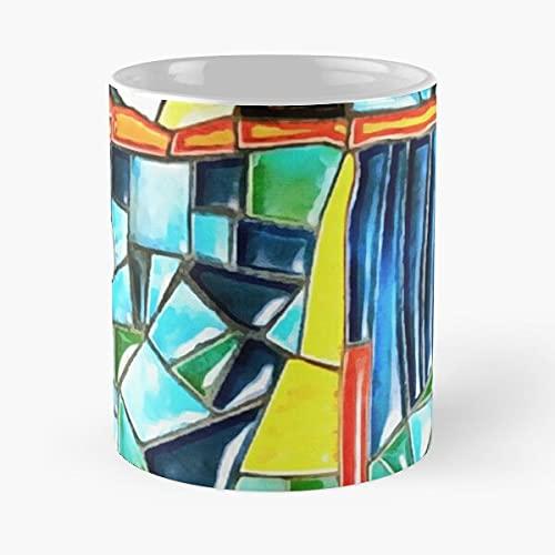 Gaudi Barselona Mosaic - Taza de café con texto en francés «Le Je Personal»