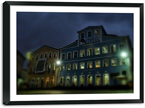 Quadro Decorativo - Casa Jorge Amado - Pelourinho - Moldura Caixa 2.1 cm com Margem de 3x3