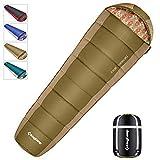 KingCamp Saco de Dormir Momia 3 Temporadas -15~10℃ Diseño Ligero y Compacto a Prueba de Agua en 3 Colores