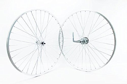 RIDEWILL BIKE Coppia Ruote 28'' bussole Vintage Basso Profilo Argento contropedale (Contropedale) / Pair 28'' Wheels eyeletted Vintage Low Profile Silver Coaster Brake (Coaster Brake)