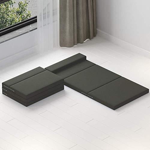 Colchón de piso plegable, colchón de cama de tatami grueso, almohadilla de...