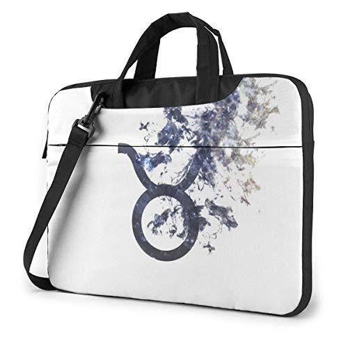 Zodiac Sign - Taurus Cute Laptop Case Laptop Shoulder Messenger Bag Sleeve for 15.6 Inch