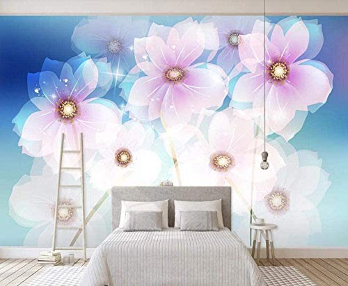 Mural Wallpaper Photo Poster Wall DecorationHand Drawn Vintage flowersBackground Wall Background Painting Panorama 3D Wall Mural Decor 175 * 250cm