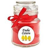 HS Candle Duftkerze als Ostergeschenk (Rosen-Duft), Design: Küken - Kerze als Osterdeko - 120g. Wachs mit ca. 30 Stunden Brenndauer