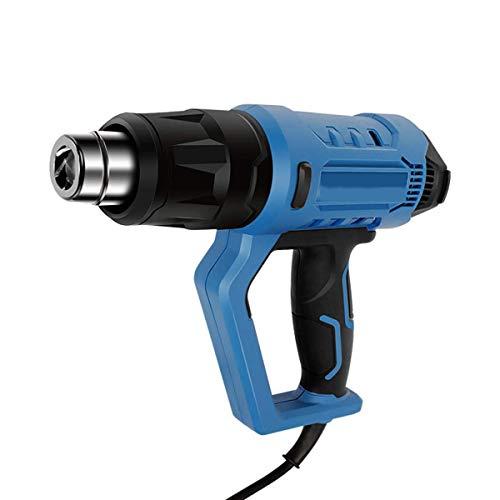 Pistolas de Calor, 2000 W con Control de Temperatura Variable, 3 configuraciones de Temperatura y Flujo de Aire 50 ° C-600 ° C y 250-500L/M con Accesorios para Bricolaje y Mejora