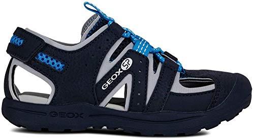 Geox VANIETT Boy J925XA Jungen Trekking Sandalen,Kinder Outdoor-Sandale,Sport-Sandale,geschlossener Zehenbereich,Navy/Turquoise,30