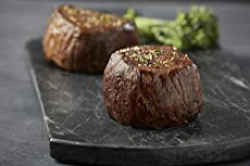 Premium Angus Beef – Set of 4 (6oz) Wet-Aged Filet Mignon Steaks, Tender Beef Cut Completely Trimmed of Exterior Fat, Melt in your Mouth Steak Set Savory Beef Dinner Best Served as a Grilled Steak