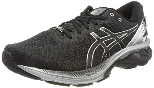 ASICS Gel-Kayano 27 Platinum, Road Running Shoe Uomo, Black/Pure Silver, 45 EU