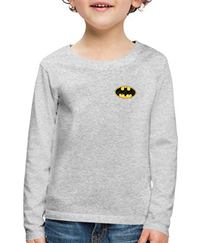 Batman Logo Poitrine Vintage T-Shirt Manches Longues Premium