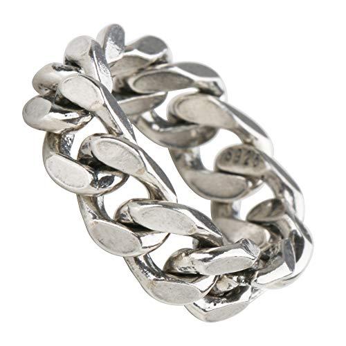 [silver KYASYA]シルバー925 喜平チェーンリング silver925 喜平リング チェーン きへい いぶし 燻 指輪 銀 (幅6mm, 10)