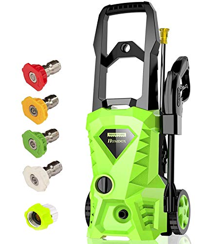 Homdox Electric Pressure Washer 2500 PSI 1600W Power Washer 1.5GPM High Pressure Washer, Professional Washer Cleaner Machine with 4 Interchangeable Nozzles
