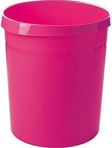 HAN Papierkorb GRIP, 18 Liter, mit 2 Griffmulden, stabil, rund, Trend Colour pink