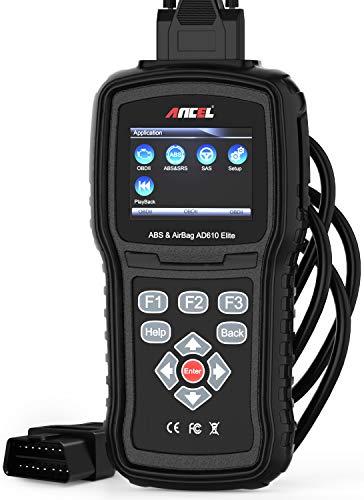 ANCEL AD610 Elite OBD II Car Code Reader Automotive Engine Diagnostic Scan Tool ABS SAS SRS Airbag Crash Data Reset Scanner
