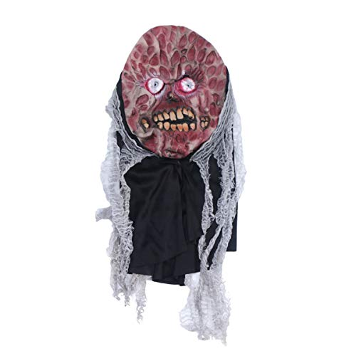 Amosfun Halloween Maske Latex Angst Geister Maske streich Prop Partei Maske Horror Kopfschmuck Cosplay Partei liefert
