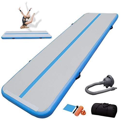 TIGERXBANGGimnasiaTumbling Mat 10 20cmEspesor3 4 5 6m Colchoneta Air Mat Estera de Yoga Taekwondo con Bomba eléctrica(Blue,3x1x0.1m)