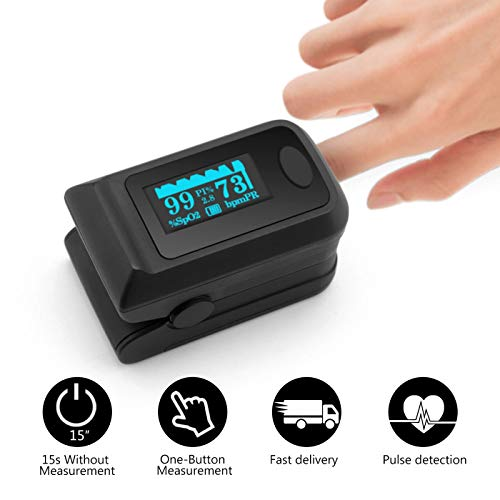 Caline Fingertip Pulse Oximеter SPO2 Blood Oxygen Saturation Monitor Heart Rate Monitor OLED Digital Display