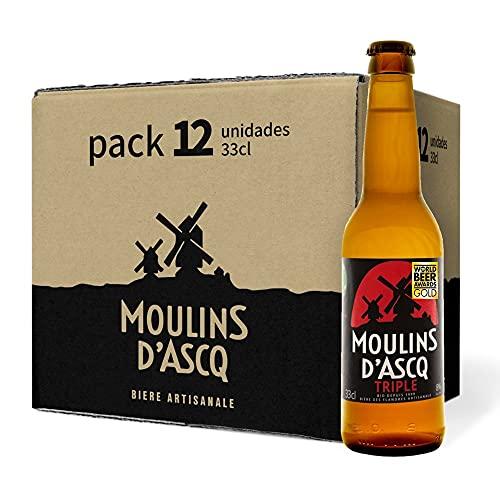 Pack 12 uds. Moulins d'Ascq Cerveza Bioecológica Orgánica Artesanal Tipo Triple - 33 cl.