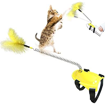 Amazon - 50% Off on Funny Interactive Cat Feather Toys, Foot Control by Spring, Feet Funny Cat