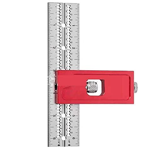 XCZWG Herramientas De CarpinteríA CombinacióN Y Doble Cuadrado, Regla De Borde para Carpinteros, CombinacióN Escuadra,Piezas para CarpinteríA Herramient 15cm A