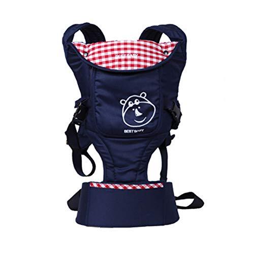 Yuzhijie Doble hombro bebé cintura taburete bebé espalda correa bebé cintura taburete cuatro estaciones multi-funcional bebé bebé mochila azul