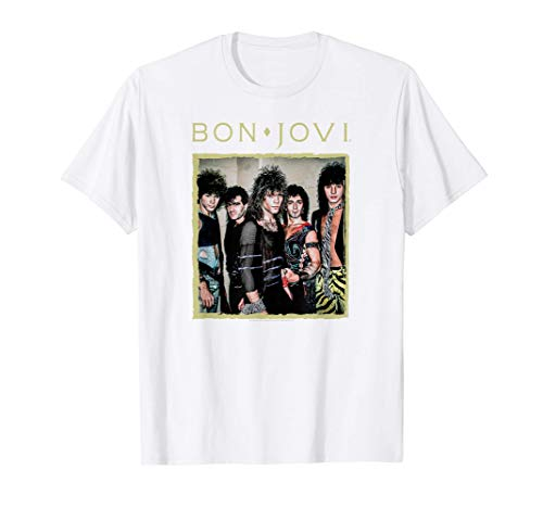 Bon Jovi Framed 80s Photo T-Shirt for Adults and Kids
