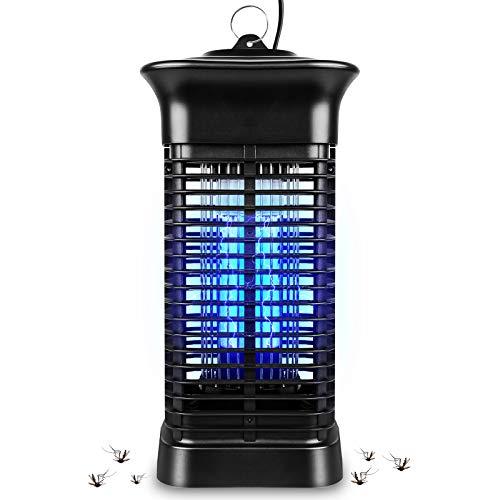 Cnloyua Elektrischer Insektenvernichter, 15W 4000V mit UV-LED-Mückenfallenlicht, Keine giftigen Chemikalien, Stecker für Haus, Büro, Schlafsaal, Innen- und Außenbereich