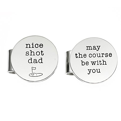 Magnetic Golf Ball Markers Set of 2 with Case,Gift for Dad.