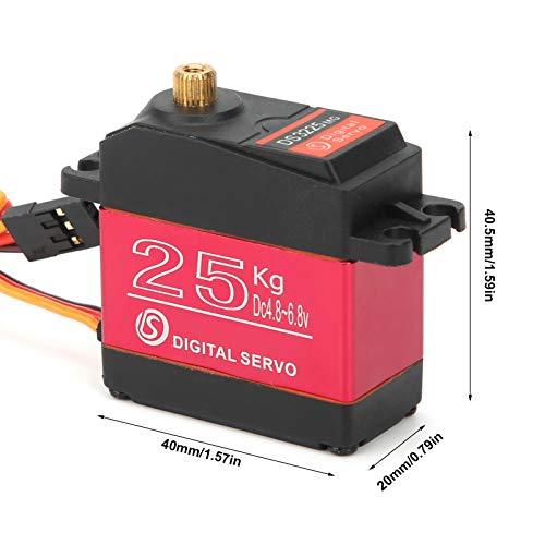 Alomejor DS3225MG 25KG RC Servo Wasserdichtes Digitales Servo mit Hohem Drehmoment für 1/8 1/10 1/12 RC Auto