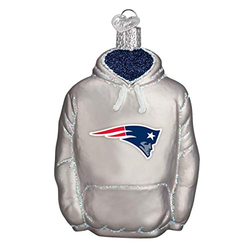 Old World Christmas New England Patriots Glass Blown Ornaments for Christmas Tree Hoodie