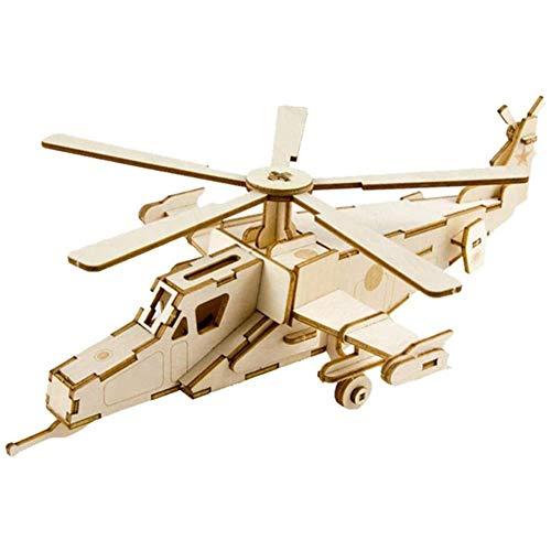 Houten vliegtuig model kits 3D houten puzzel DIY geassembleerde formatie vliegtuigen monteren van speelgoed modelvliegtuigen geschenken voor de Kinderbescherming,Beige